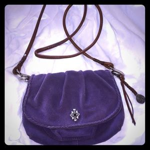 Purple suede Lucky Brand crossbody